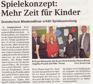 OVZ Artikel zu spielen macht Schule vom 25.11.2009